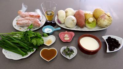 Ingrédients pour la recette : Poêlée de navets