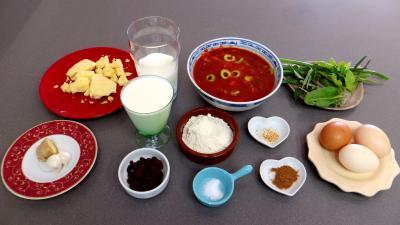Ingrédients pour la recette : Flans au cheddar
