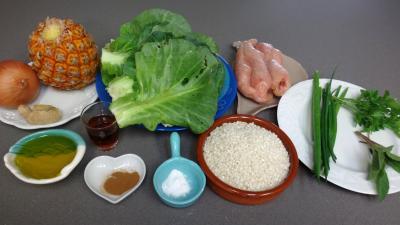 Ingrédients pour la recette : Sauté de dinde à l'ananas