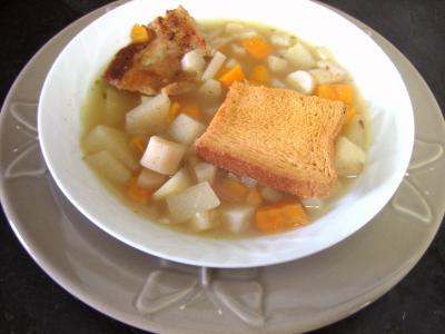chayotte : Assiette de soupe de scorsonères
