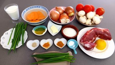 Ingrédients pour la recette : Curry à la crème de coco