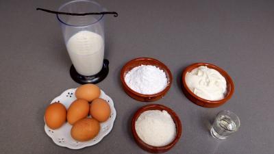 Ingrédients pour la recette : Glace ou crème glacée à la noix de coco