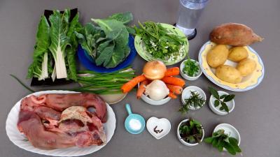 Ingrédients pour la recette : Pot au feu de langue de porc