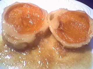 Image : Assiette de quenelles aux abricots