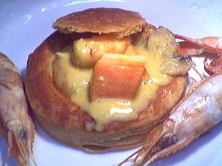 Image : recette Bouchées au ragoût de gambas