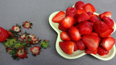 Mascarpone aux fraises et aux myrtilles - 1.2