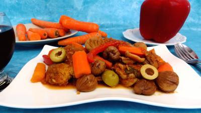 Filet de porc aux châtaignes - 7.4