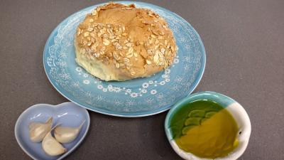 Ingrédients pour la recette : Croûtons grillés à l'ail