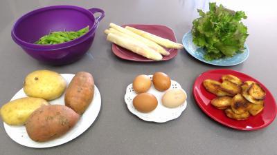 Ingrédients pour la recette : Petits pois en salade