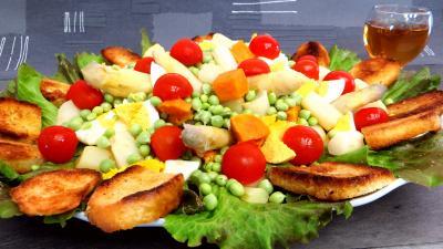 asperge : Petits pois en salade