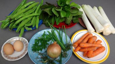 Ingrédients pour la recette : Salade braisée aux carottes