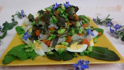 Vinaigrette à l'orange : Assiette de salade braisée aux carottes