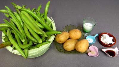 Ingrédients pour la recette : Purée de fèves