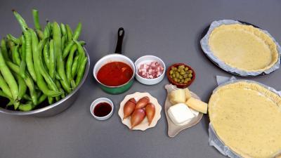 Ingrédients pour la recette : Pizza aux fèves