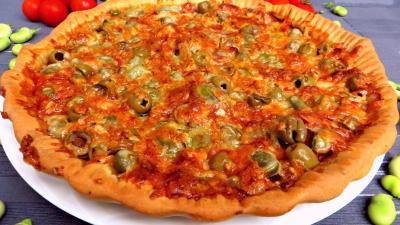 pizza au fromage : Pizza aux fèves