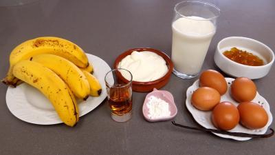 Ingrédients pour la recette : Glace ou crème glacée à la banane