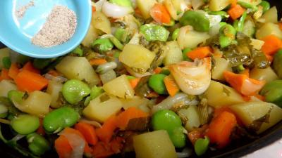 Fèves et légumes à l'oseille - 6.1