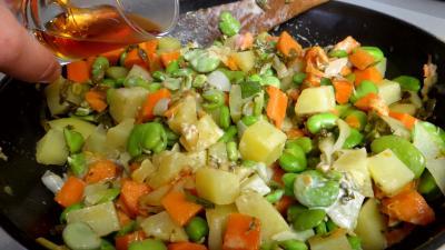 Fèves et légumes à l'oseille - 6.3