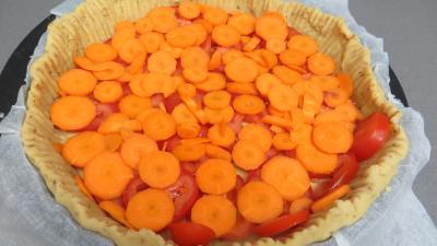 Tarte aux carottes et aux tomates - 2.3