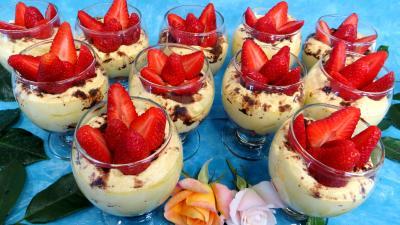 Image : Mascarpone aux fraises