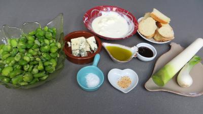 Ingrédients pour la recette : Crème de fèves
