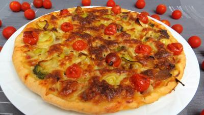 Fromages : Pizza aux restes de charcuterie