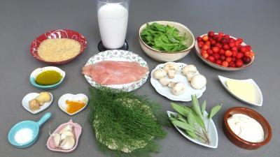 Ingrédients pour la recette : Risotto aux cerises