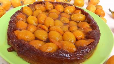 tarte sucrée : Tatin aux nèfles du Japon