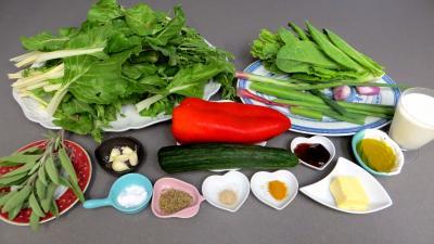Ingrédients pour la recette : Compotée de blettes
