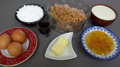 Ingrédients pour la recette : Glace ou crème glacée aux groseilles