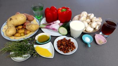 Ingrédients pour la recette : Blanquette de pommes de terre