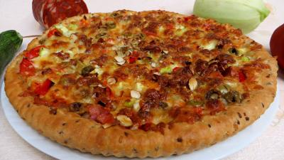 pizza au légume : Pizza aux courgettes