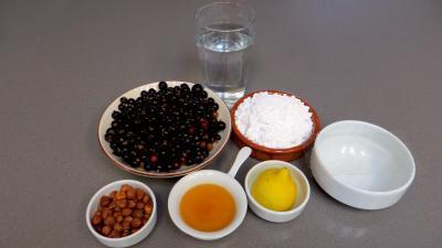 Ingrédients pour la recette : Sorbet au cassis