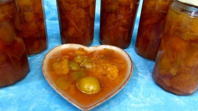 Image : Compote de prunes à la sangria