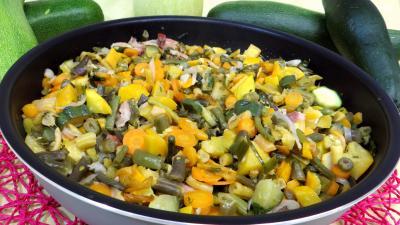 ciboule : Sauteuse d'haricots verts