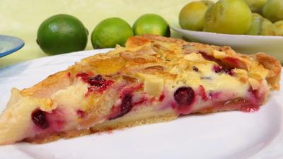 Clafoutis aux pommes, prunes et cassis - 4.3