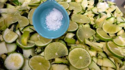 Confiture de courgettes et citrons verts - 2.4