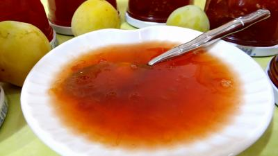 Confitures : Confiture de prunes au tilleul