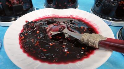 Confitures : Confiture de baies de sureau à la rhubarbe
