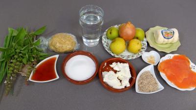 Ingrédients pour la recette : Tarte Picodon aux nashis