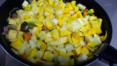 Sauté de potimarron et légumes - 6.4