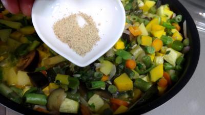 Sauté de potimarron et légumes - 7.4