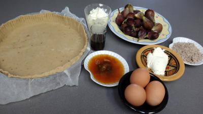 Ingrédients pour la recette : Tarte aux figues