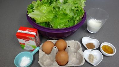 Ingrédients pour la recette : Flan de batavia