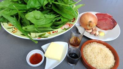 Ingrédients pour la recette : Sauté d'épinards