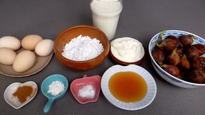 Ingrédients pour la recette : Crème glacée aux figues