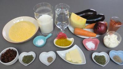 Ingrédients pour la recette : Polenta aux légumes