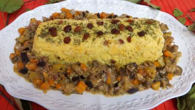 Légumes : Plat de polenta aux légumes