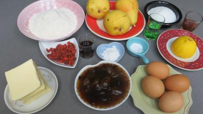 Ingrédients pour la recette : Quatre-quart aux poires