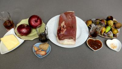 Ingrédients pour la recette : Sauté de canard aux figues